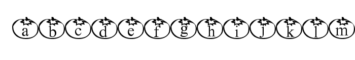 Tomate Font LOWERCASE