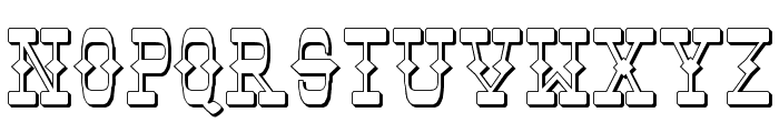 Tombstone Shadow Font UPPERCASE