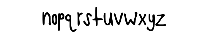 TooCrowded Font LOWERCASE