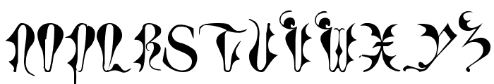 Tory Gothic Caps Font UPPERCASE