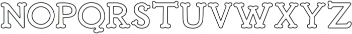 Troupe Outline otf (400) Font UPPERCASE