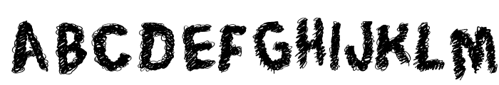 Trace of Rough Font LOWERCASE