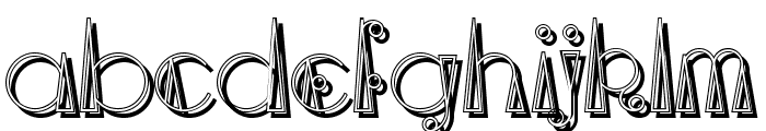 TriangleETcircle Shadow Font LOWERCASE