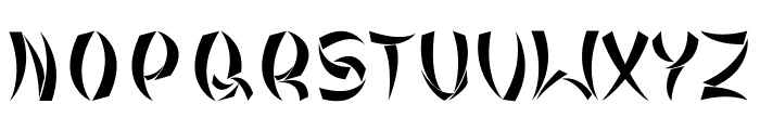 Tribal Chinese Version Font UPPERCASE