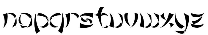 Tribal Chinese Version Font LOWERCASE