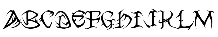 Tribal Font LOWERCASE
