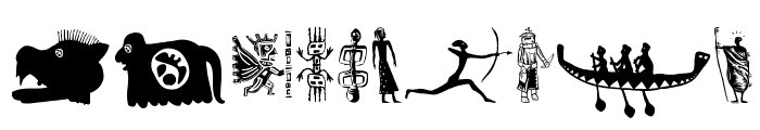 TribalisticaFigures Font OTHER CHARS