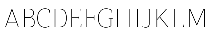 Trirong Thin Font UPPERCASE