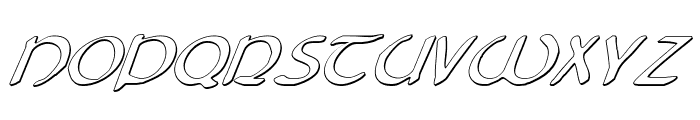 Tristram Shadow Italic Font UPPERCASE