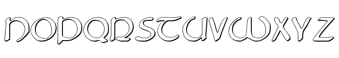 Tristram Shadow Font UPPERCASE