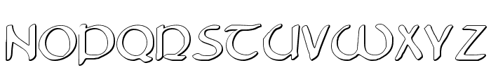 Tristram Shadow Font LOWERCASE