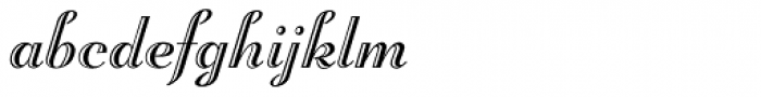Troubadour Pro Engraved Font LOWERCASE