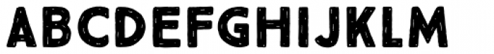 True North Rough Black Font LOWERCASE