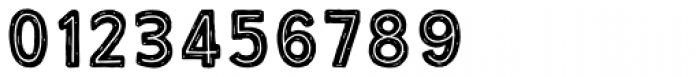 True North Rough Inline Black Font OTHER CHARS
