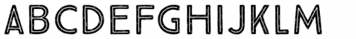True North Rough Inline Font LOWERCASE