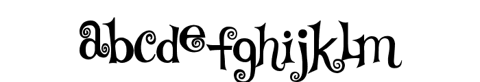 TS Curly Font LOWERCASE