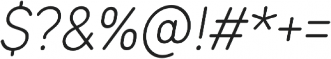 TT Rounds Condensed Light Italic otf (300) Font OTHER CHARS