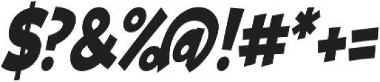 Turnstyle Condensed Italic otf (400) Font OTHER CHARS
