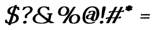 Tumbletype No2 Regular Font OTHER CHARS