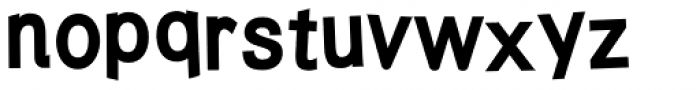 Twisted Punk Heavy Font LOWERCASE