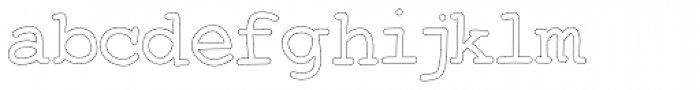 Two Fingers Courier Outline Font LOWERCASE