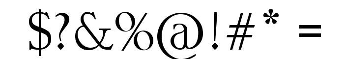 UNKNOWN Font OTHER CHARS