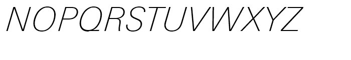 Univers Next 231 Basic Thin Italic Font UPPERCASE