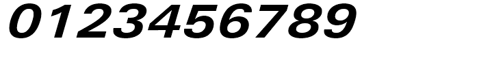Univers Next 641 Extended Bold Italic Font OTHER CHARS