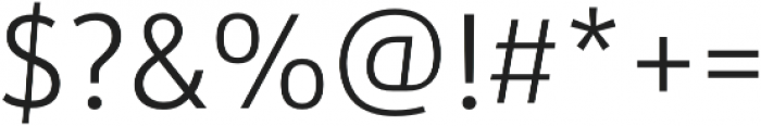 URW Form SemiCond Light otf (300) Font OTHER CHARS