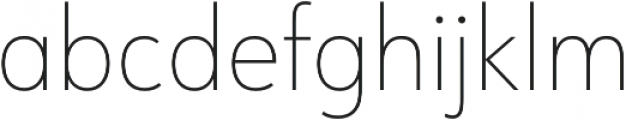 URW Form SemiCond Thin otf (100) Font LOWERCASE