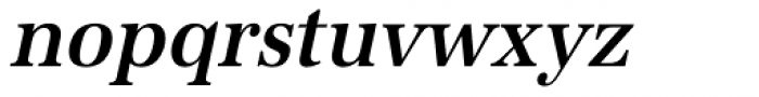 URW Antiqua ExtraNarrow Medium Oblique Font LOWERCASE