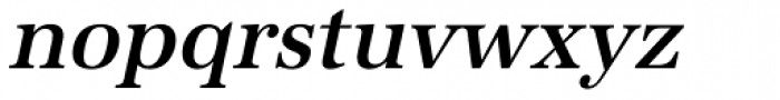 URW Antiqua Narrow Medium Oblique Font LOWERCASE