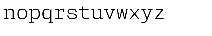 User Light Font LOWERCASE
