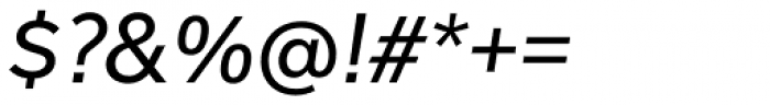 Usual Italic Font OTHER CHARS
