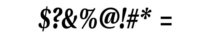 VenturisADFCdStyle-BoldItalic Font OTHER CHARS