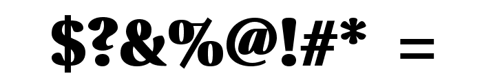 VenturisADFHeavy Font OTHER CHARS