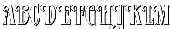 Verve Shadow Font UPPERCASE
