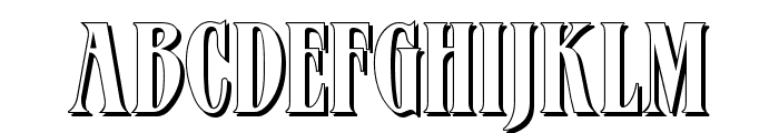 Verve Shadow Font LOWERCASE