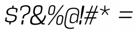 Vectipede Light Italic Font OTHER CHARS