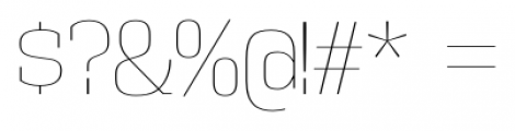Vectipede UltraLight Font OTHER CHARS