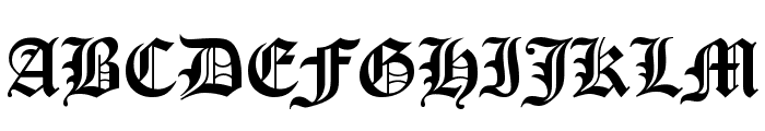 Victorian Font UPPERCASE