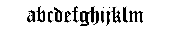 Victorian Font LOWERCASE