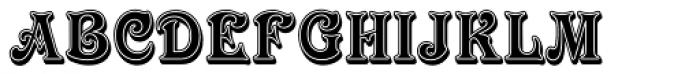Victorian Std Inline Shaded Font UPPERCASE