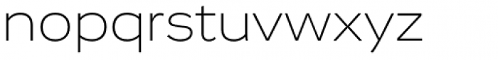 Vito Extended Extra Light Font LOWERCASE