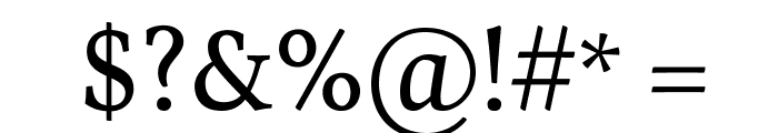 Vollkorn Font OTHER CHARS