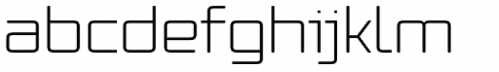 Vox Round Wide Light Font LOWERCASE