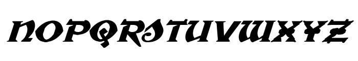 War Priest Expanded Italic Font UPPERCASE