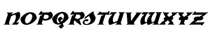War Priest Expanded Italic Font LOWERCASE