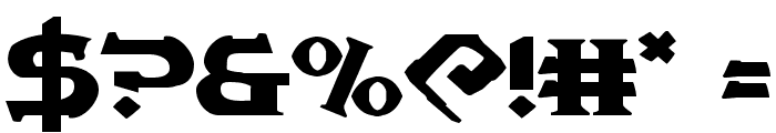 War Priest Expanded Font OTHER CHARS