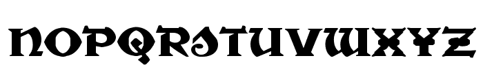 War Priest Expanded Font LOWERCASE